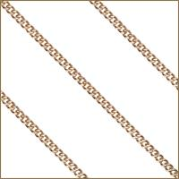"24"" 14kt Gold Filled Endless Curb Chain, 2.15mm wide, # 9514"