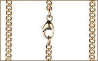 "18"" 14kt Gold Filled Curb Chain w/ Clasp, 2.5mm wide, # 9520"