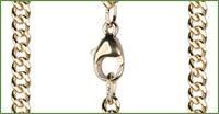 "18"" 14kt Gold Filled Curb Chain w/ Clasp, 3.4mm wide, # 9535"