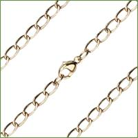 "24"" 14kt Gold Filled Light Open Curb Chain, 3.4mm wide, # 9547"