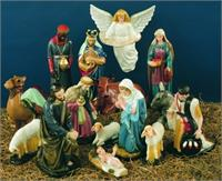 "15 pc. Polymer Outdoor Nativity Set, 36"" Color, # 9549"