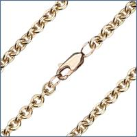 "24"" Cable Flat Chain, 4.35mm wide, 14kt Gold Filled, # 9590"