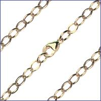"16"" Open Cable Flat Chain, 4.7mm wide, 14kt Gold Filled, # 9610"