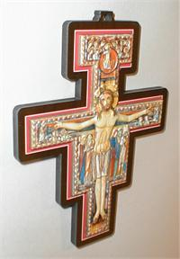 "6.75"" San Damiano, Raised Metal Image on .25"" thick Wood  Made in Italy., 96194"