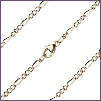 "30"" Figaro Chain, 2.3mm wide, 14kt Gold Filled, # 9653"