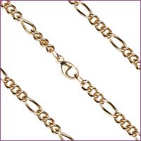 "16"" Heavy Figaro Chain, 3.4mm wide, 14kt Gold Filled, # 9658"