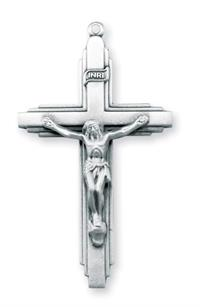 "Crucifix, 1 7/8"" Sterling Silver with 24"" Chain # 96842."