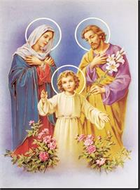 "19"" x 27"" Poster of the Holy Family, Italian gold embossed, #, 98453"