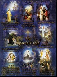 "19"" x 27"" Poster of the Apostles' Creed, Italian gold embossed, #, 98468"