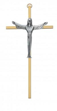 "7"" Brass Risen Christ Crucifix, # 99128"