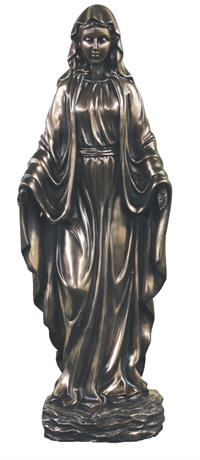 "20"" Our Lady of Grace Statue, Cold Cast Bronze, # 99400"