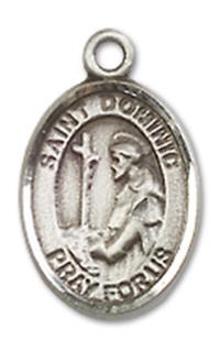 "St. Dominic de Guzman Charm Medal, Sterling Silver, 1/2"", Your choice of chain, # 9955"
