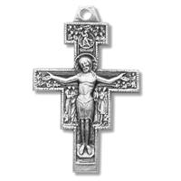 "1"" tall Damiano Cross, Sterling, with Your Choice of Chain, #27204"