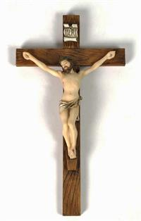 "Crucifix, Hand-Painted Colors, 10"", #3248"