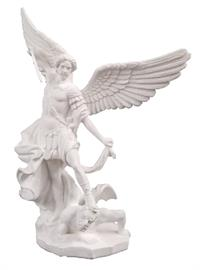 "St. Michael, White, no base, 8"", #3242"