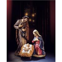 "24"" Val Gardena Holy Family Nativity Statue, # 6116"