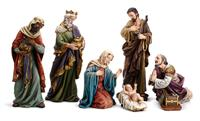 "7 pc. 24"" Hand Painted Nativity Set, # 5533"