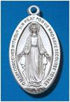 Sterling Silver Miraculous Medal, #104450, 1-1/16