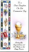 First Communion Greeting Card for Daughter, # 14919