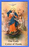 Our Lady Untier of Knots Folding Prayer Card, # 18387