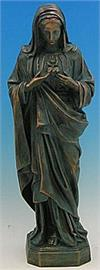 Immaculate Heart of Mary Outdoor Statue, 24