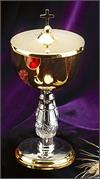 Ciborium with Cross Cover, 7.5
