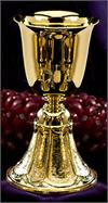 24kt Gold Plate Chalice, 7-1/8