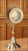 Grapes and Wheat Monstrance, Brass, 14