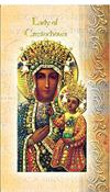 Our Lady of Czestochowa Folding Prayer Card, 10-pack, # 59136
