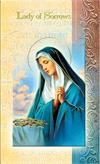 Our Lady of Sorrows Folding Prayer Card, 10-pack, # 59138