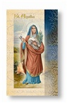 St. Agatha Folding Prayer Card, 10-pack, # 60291