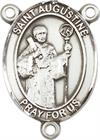St. Augustine Rosary Center, Sterling Silver, 3/4