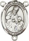 St. Ambrose Rosary Center, Sterling Silver, 3/4