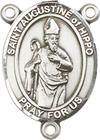 St. Augustine of Hippo Rosary Center, Sterling Silver, 3/4