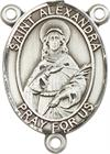St. Alexandra Rosary Center, Sterling Silver, 3/4