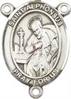 St. Alphonsus Liguori Rosary Center, Sterling Silver, 3/4