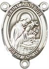 St. Aloysius Gonzaga Rosary Center, Sterling Silver, 3/4