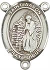 St. Aaron Rosary Center, Sterling Silver, 3/4