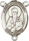 St. Athanasius Rosary Center, Sterling Silver, 3/4