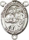St. Cosmas & Damian Rosary Center, Sterling Silver, 3/4