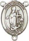 St. Clement Rosary Center, Sterling Silver, 3/4