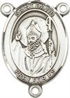 St. David of Wales Rosary Center, Sterling Silver, 3/4