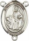 St. Dymphna Rosary Center, Sterling Silver, 3/4