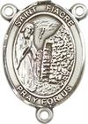 St. Fiacre Rosary Center, Sterling Silver, 3/4