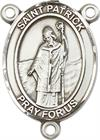 St. Patrick Rosary Center, Sterling Silver, 3/4