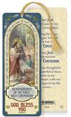 Boy's First Communion Remembrance Laminated Gold Foil Bookmark, 10-Pack, # 7085