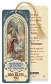Girl's First Communion Remembrance Laminated Gold Foil Bookmark, 10-Pack, # 7087