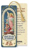 Guardian Angel Laminated Gold Foil Bookmark, 10-Pack, # 7089