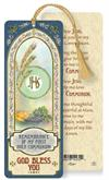 First Communion Laminated Gold Foil Bookmark, 10-Pack, # 7090