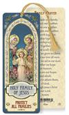 Holy Family / Family Prayer Laminated Gold Foil Bookmark, 10-Pack, # 7092